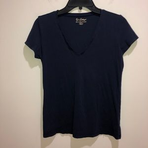 Lilly Pulitzer Size Small Blue Short Sleeve V-Neck